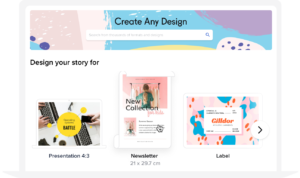 how to create newsletter header step1